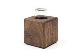Kleine Holzvase aus Nussbaumholz
