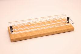 Liquidständer 32x 10ml aus Eichenholz & Acrylglas