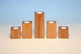 Teelichthalter aus Eichenholz