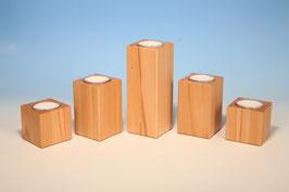 Teelichthalter für Maxiteelichter aus Kernbuchenholz