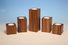 Teelichthalter für Maxiteelichter aus Nussbaumholz