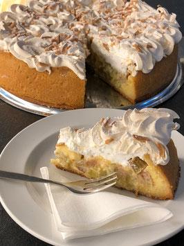 Rhabarber-Vanillekuchen mit Mandelbaiser