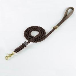 Leder-Segeltauleine chocolate braun
