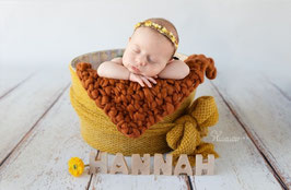 Handgestrickte Perlenmusterdecke für die Neugeborene/Baby Fotografie