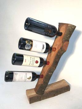 Weinständer - Kirschbaumholz - 4 Flaschen