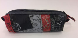 Schlauchetui patch rot-grau-schwarz
