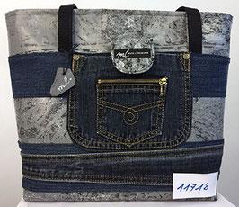 Jeans-Shopper hellgrau/dunkle Jeans