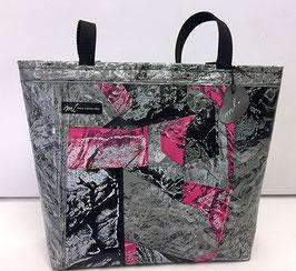 Patchwork-Shopper grau/schwarz/pink