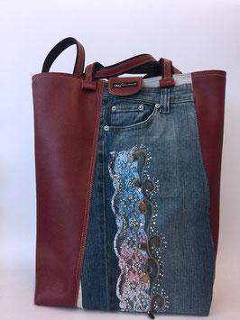 Einkaufstasche Jeansoptik, Einzelstück