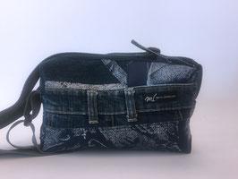 Umhängetasche klein mit Jeans-Elementen 2