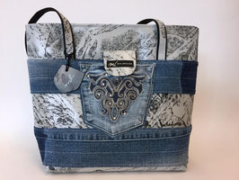 Jeans-Shopper hellgrau