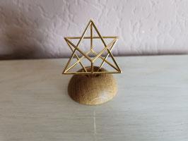 Mini-Sterntetraeder 4 cm, 14 Karat vergoldet