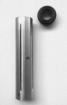 Spannhülse 60 mm für Schirmrohrdurchmesser 25 mm