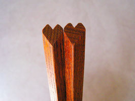 ハート箸 すり漆