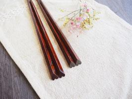ハート箸 夫婦 すり漆