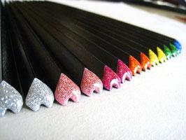 ハート箸 黒漆