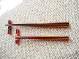 飛騨春慶 五角箸 夫婦