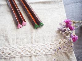 ハート箸 すり漆 和色