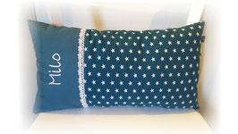 Namenskissen Sterne Kissen Babykissen petrol