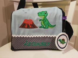 Kindergartentasche Dinosaurier Vulkan