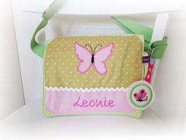 Kindergartentasche Schmetterling grün rosa