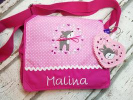 Kindergartentasche REH pink mit Name