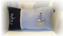 Namenskissen Kissen Segelboot