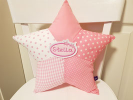 Sternenkissen Kissen Namenskissen rosa