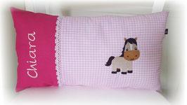 Namenskissen Kissen Name Pferd rosa/pink