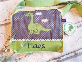 Kindergartentasche Dinosaurier grün