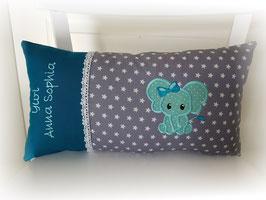 Namenskissen Kissen Elefantenmädchen