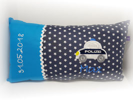 Namenskissen Kissen Polizei blau