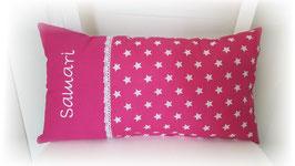 Namenskissen Sterne Kissen Babykissen pink