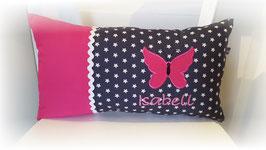 Namenskissen Kissen Name Schmetterling pink