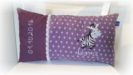 Namenskissen Kissen Zebra lila