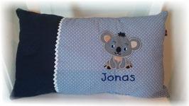 Namenskissen Kissen Name Koala blau