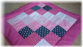 Patchworkdecke Krabbeldecke Babydecke rosa pink grau Sterne