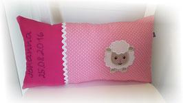 Namenskissen Kissen Schaf pink