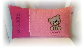 Namenskissen Kissen Name Teddy rosa