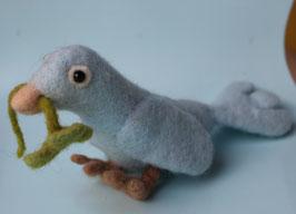 Hellblauer Glücksvogel