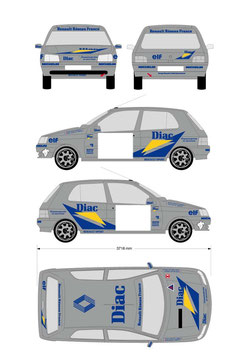 kit DECO DIAC  Clio 16