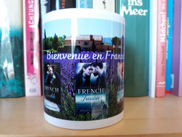 Tasse mit allen 3 French Trouble-Covern