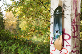 Skateboard - DEEP IN THE FOREST versch. Farben, inkl. grip