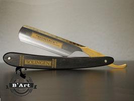 Rasiermesser 6/8 Ebenholz vergoldet DOVO Solingen