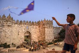 IB 29 - Gerusalemme est, volo degli aquiloni presso Damascus Gate - 2006