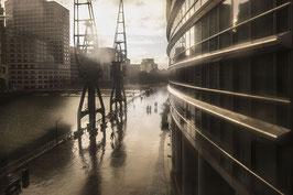 IB 21 - Londra, i docks dal finestrino della metro- 2015