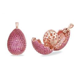 Vilmas | Anhänger | Vita Opera Large Drop Rosé/Rot | 4028146549876
