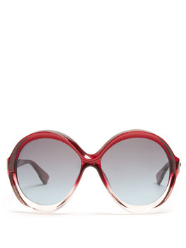 "Dior | Sonnenbrille | ""DIORBIANCA"" | rot Transparent | OT5I7"