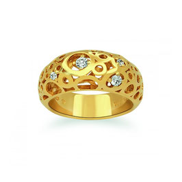Viventy | Ring | silber, IP-Gelbgold | 769151