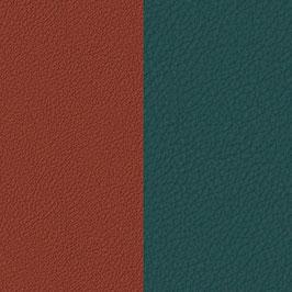 Les Georgettes | Ledereinsatz | Blau Paon/Granat | 702145899ef000